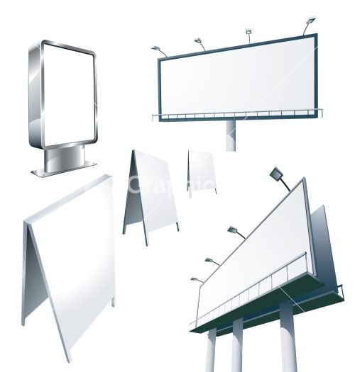 Outdoor Advertising Constructions. Vector. Stock Image