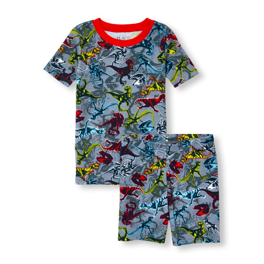 The Childrens Place Baby Boys 4 Piece Short Sleeve Pajama Set