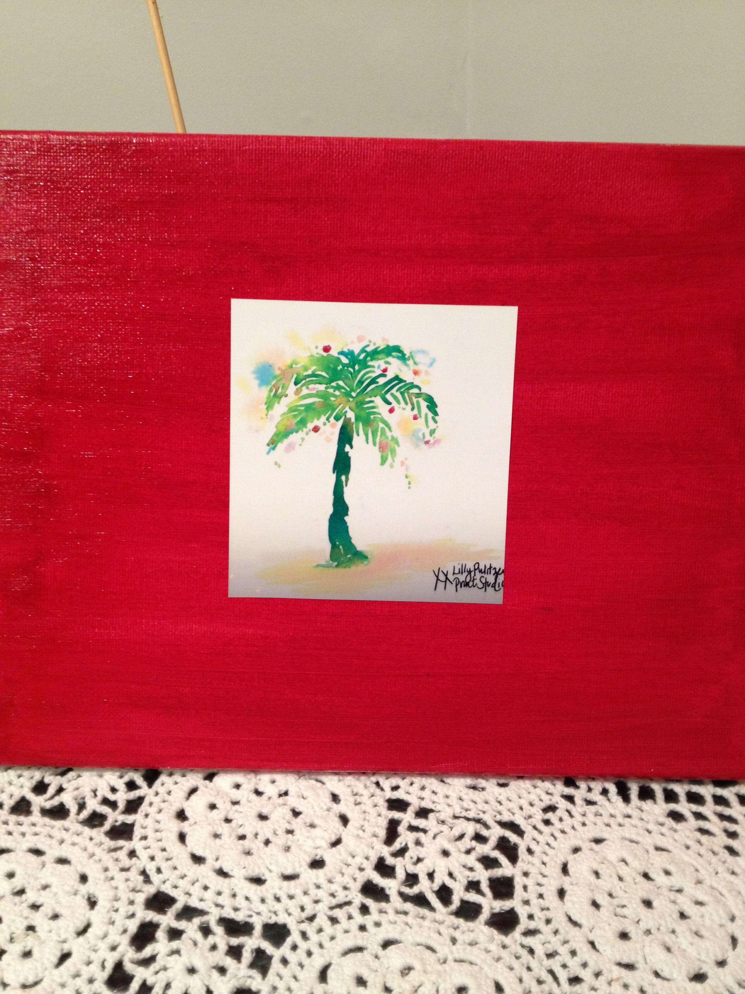 Christmas Palm Tree Bold Bright Acrylics And