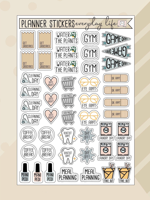 Coffee Break Bullet Journal and Planner Sticker Sheet Monthly Planner Set