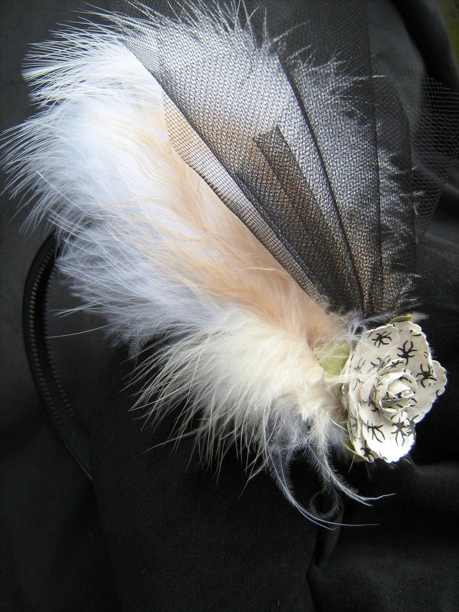 tulle fascinator by bluebird laughing