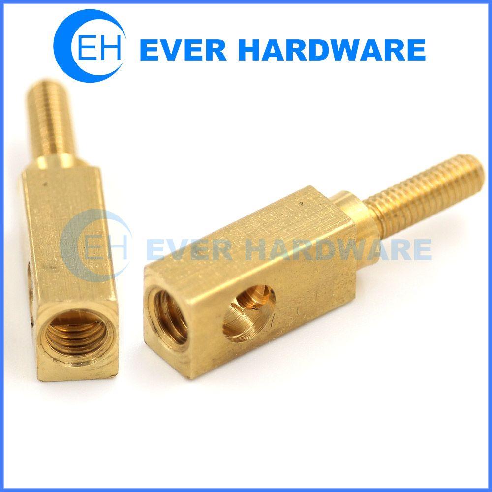 square standoffs male female hardware brass fasteners pillar support rh pinterest com