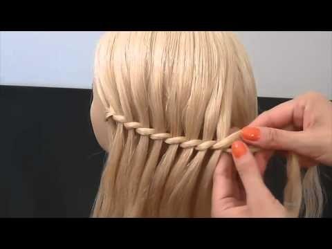 ¿Cómo hacer una trenza Cascada Peinado paso a paso hermosa por tod Styles Pinterest