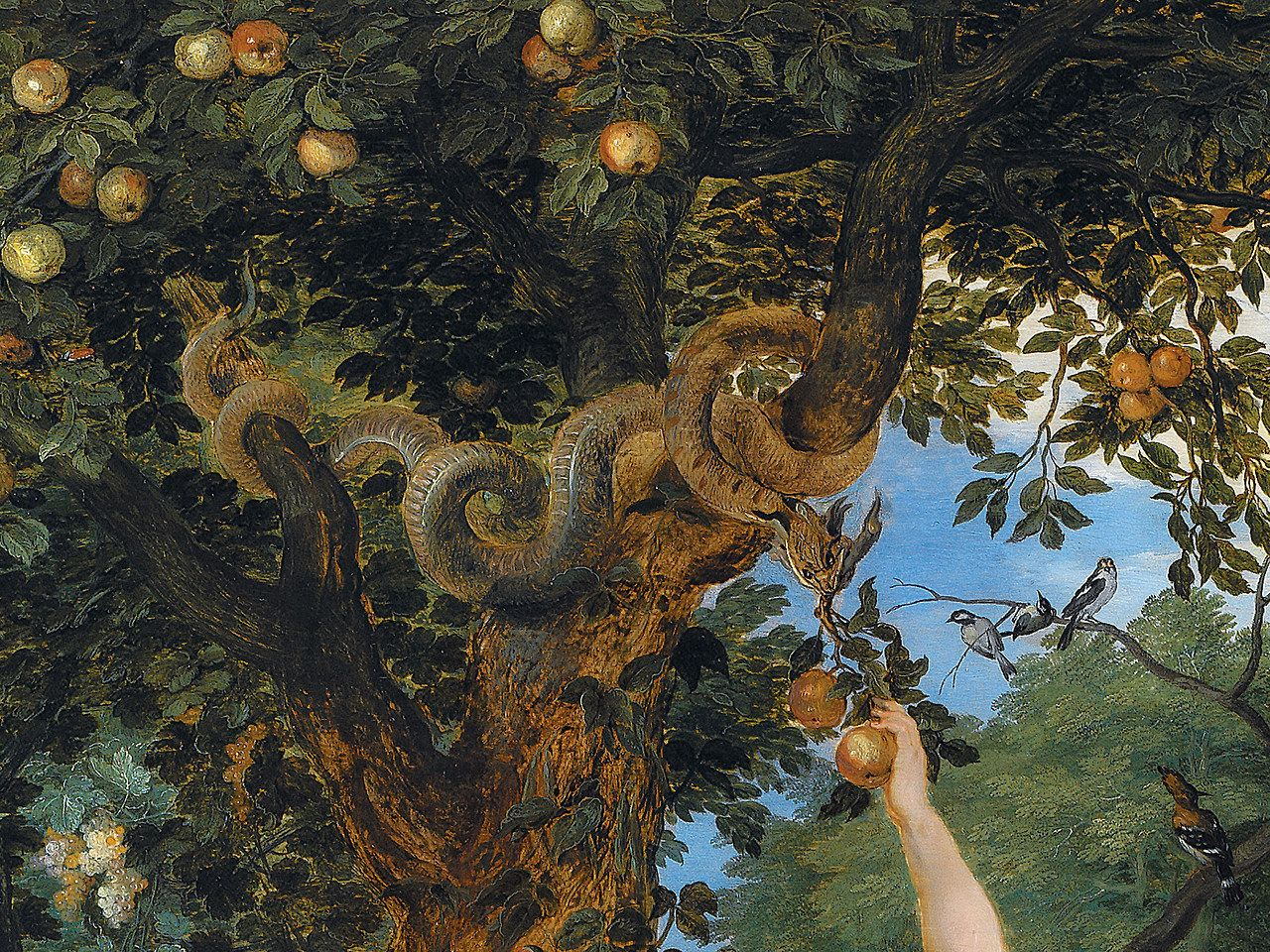 The garden of Eden with the fall of man (detail) by Peter Paul ...