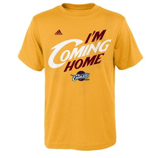 huge selection of bb3ba b89bf LeBron James Cleveland Cavaliers adidas I'm Coming Home T ...