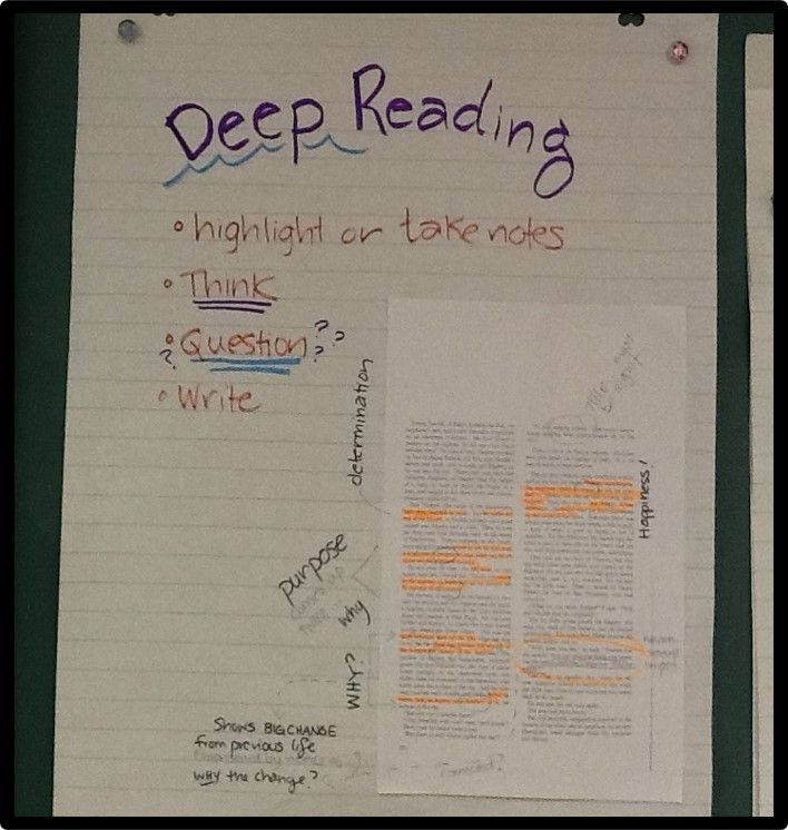 Teaching students to analyze text  Great blog