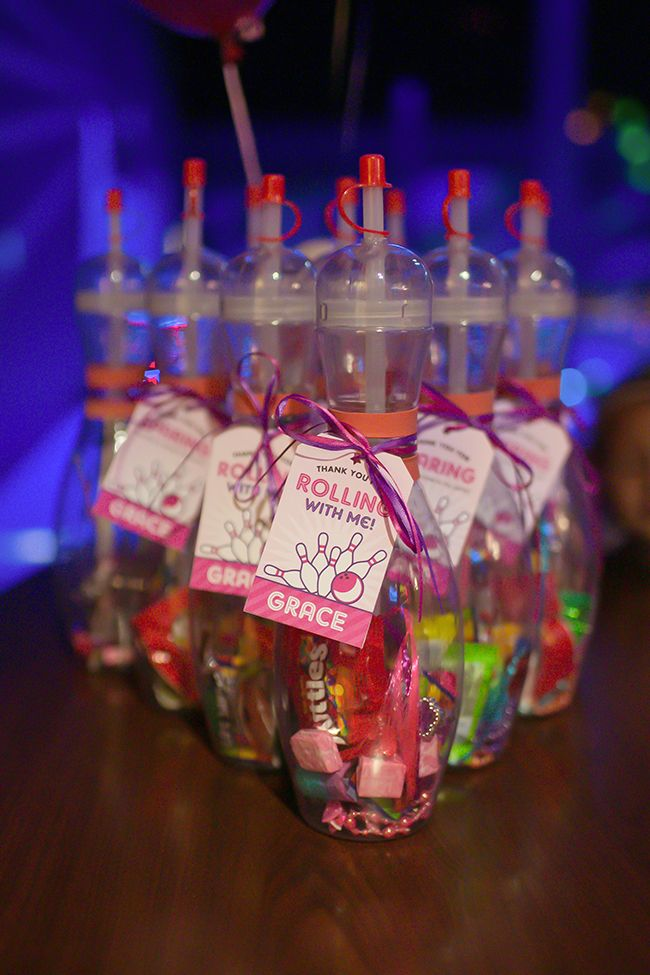 Pink Bowling Party Grace Is 4 Chickabug Bowling Party Favors Bowling Birthday Party Favors Bowling Party Themes