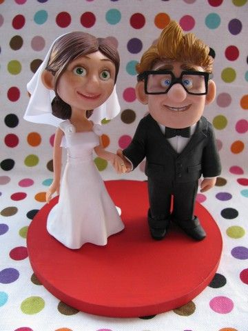 Ellie Carl Check Out These Adorable Cake Toppers It Would Be Perfect