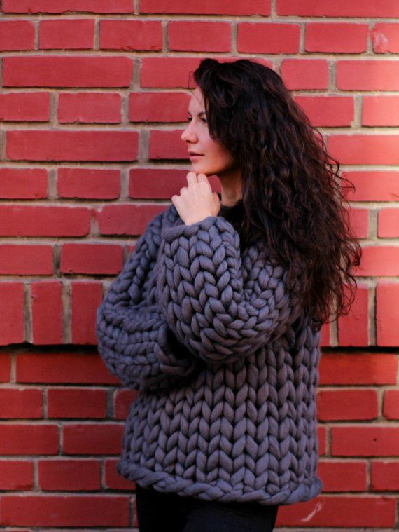 pretty nice d67b4 f506d 90 colors! Chunky knit sweater, super chunky sweater ...