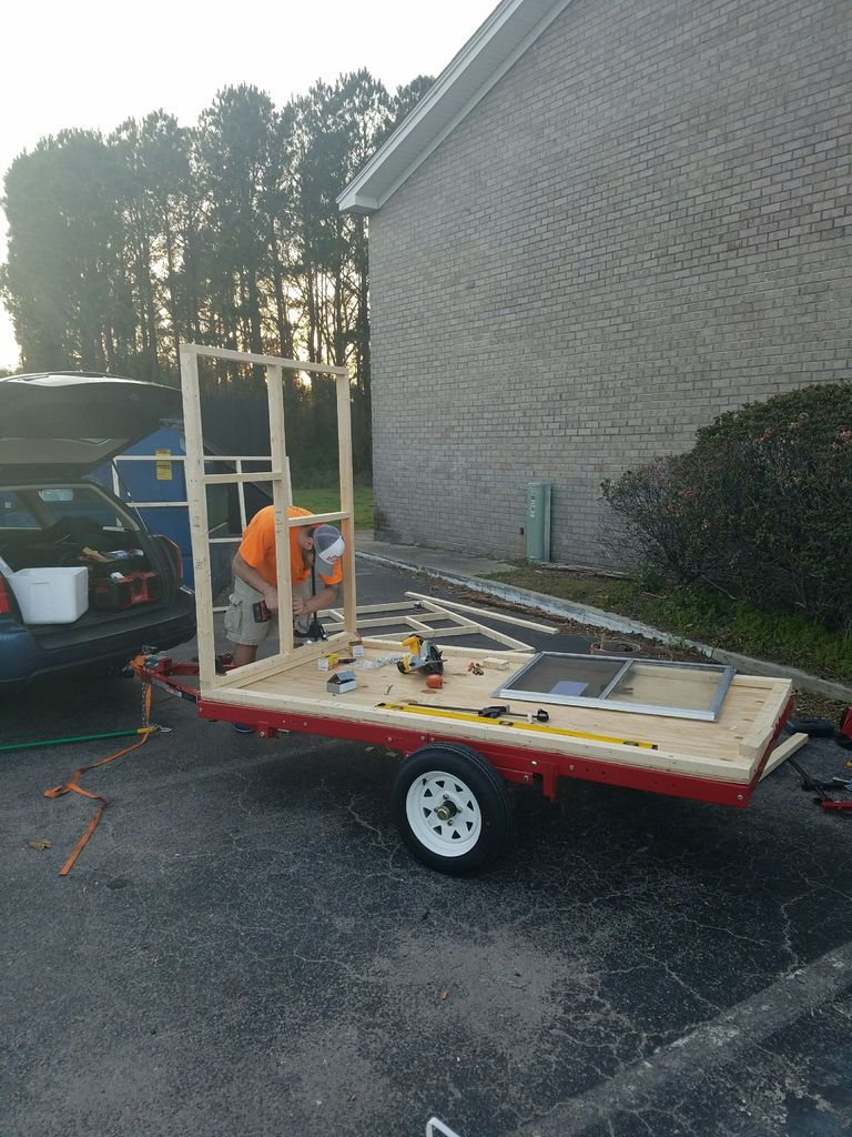 DIY 4X8 MicroTiny House Camper on Harbor Freight Trailer