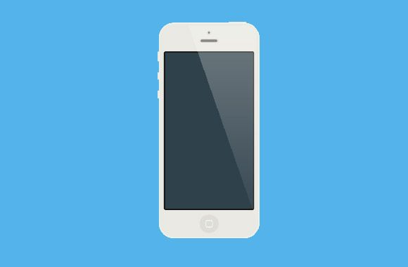 Download Flat White Iphone Mockup Freebiesbug White Iphone Iphone Mockup Iphone