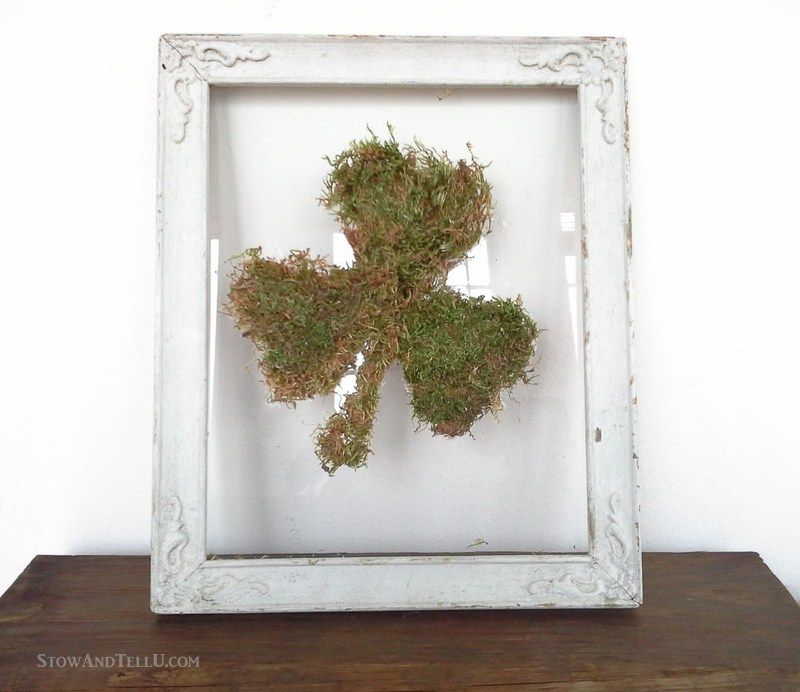 809d7a72f6b Use the glass and frame only from a vintage frame to make an easy framed  moss