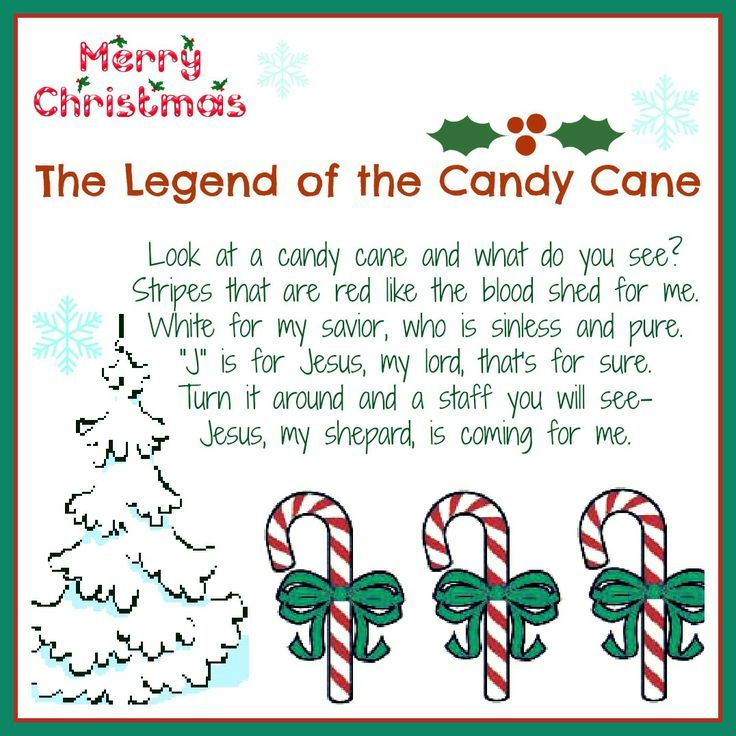 Legends Of Christmas Symbols Meaning Of The Candy Cane Poem The