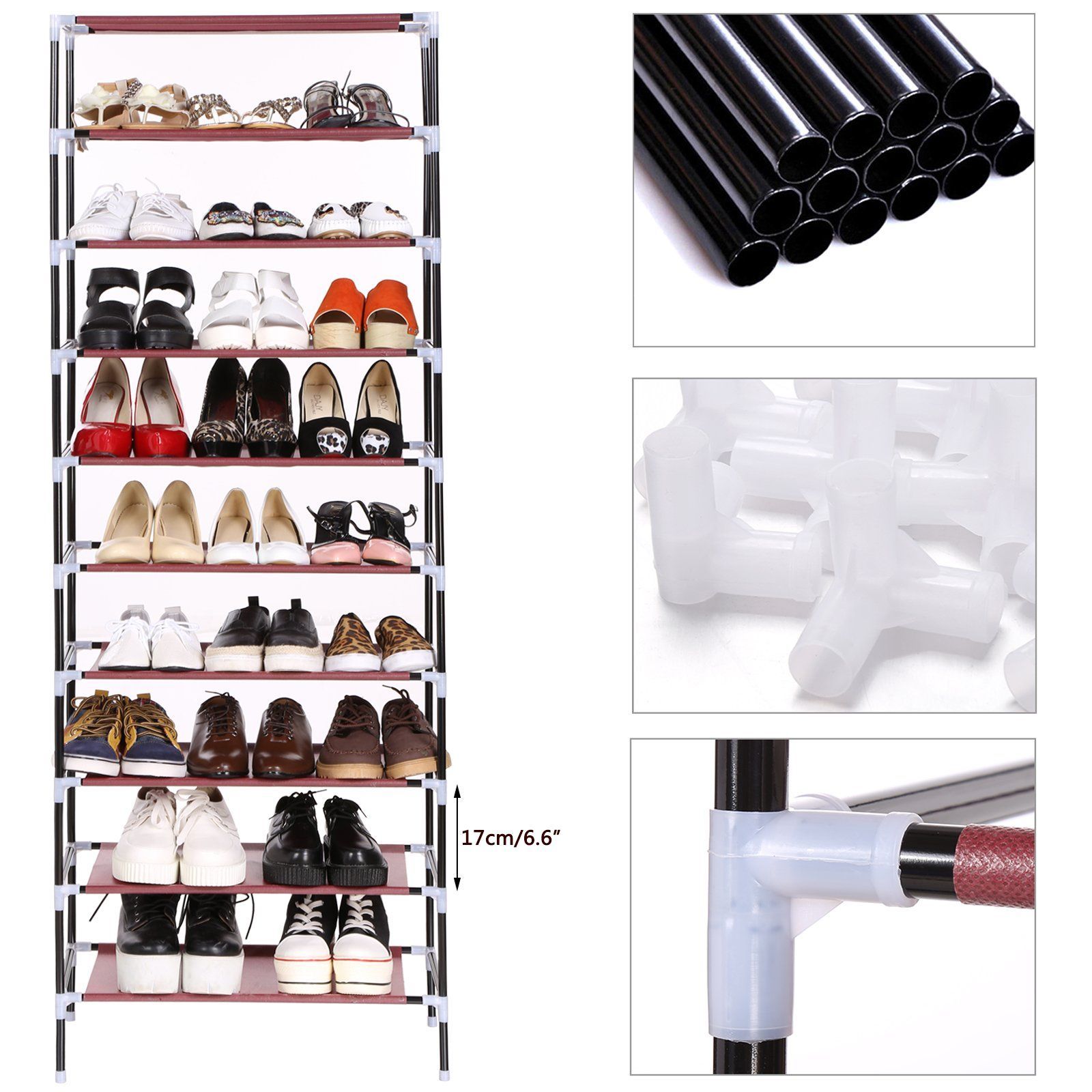 Kaluo tier portable shoe rack nonwoven fabric cover shoe storage