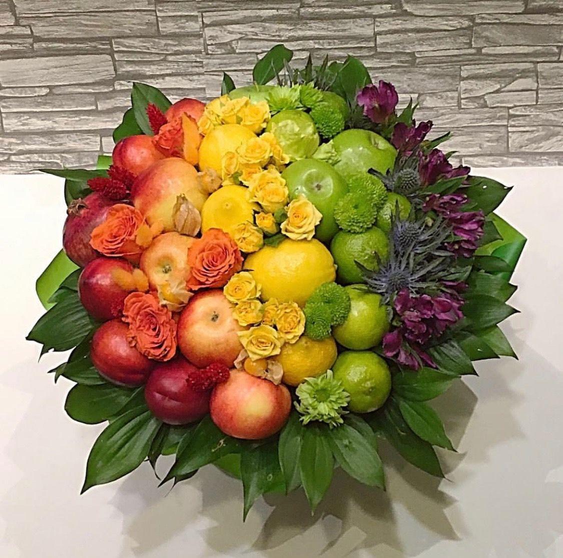 Букеты осени из цветов и фруктов екатеринбург