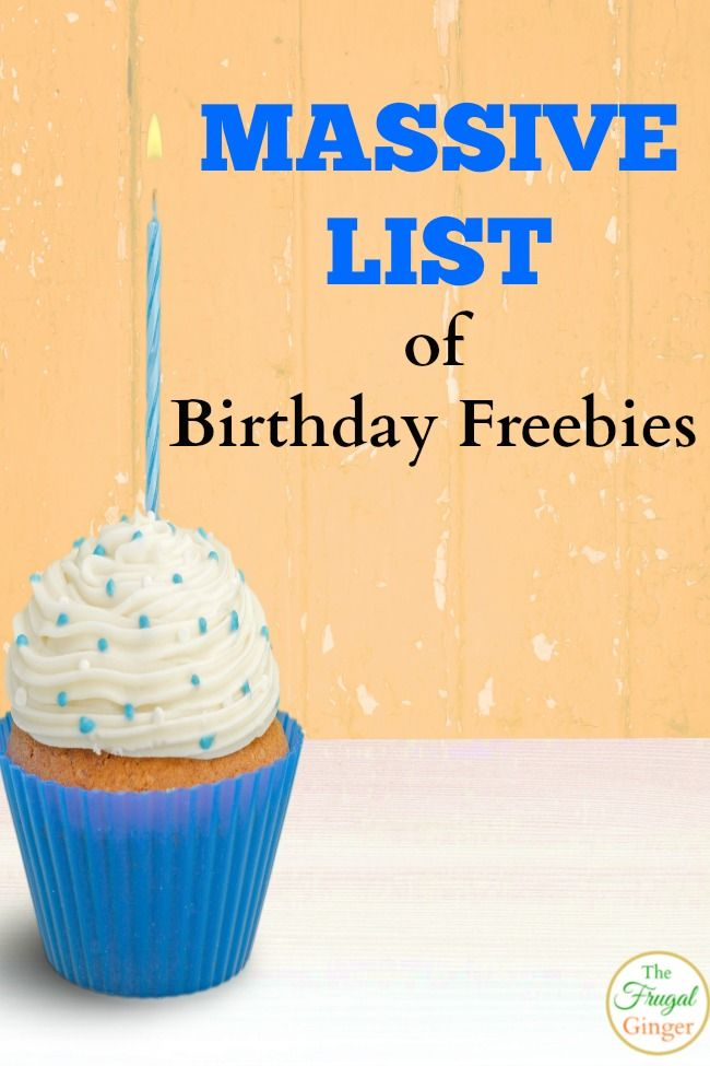 Birthday Freebies Get Free Stuff For Your Birthday Ogt Blogger