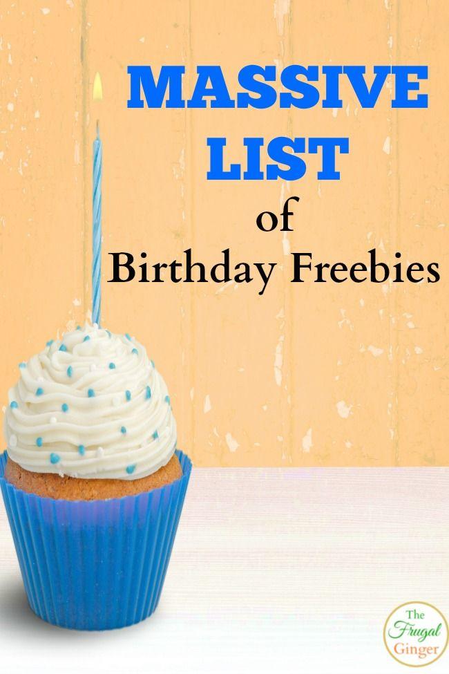 Birthday Freebies Get Free Stuff for Your Birthday Birthday