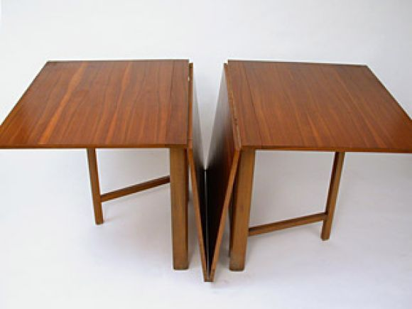 Maria Drop Leaf Teak Dining Table by Bruno Mathsson Teak Teak