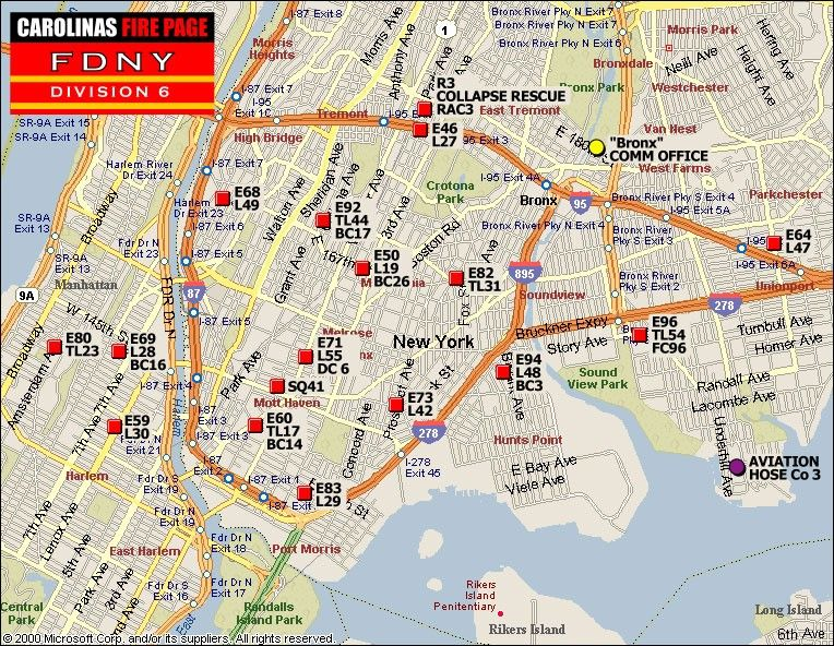 Fdny Division Map Pin by Byron Peebles on FDNY   Division Maps | New york city map