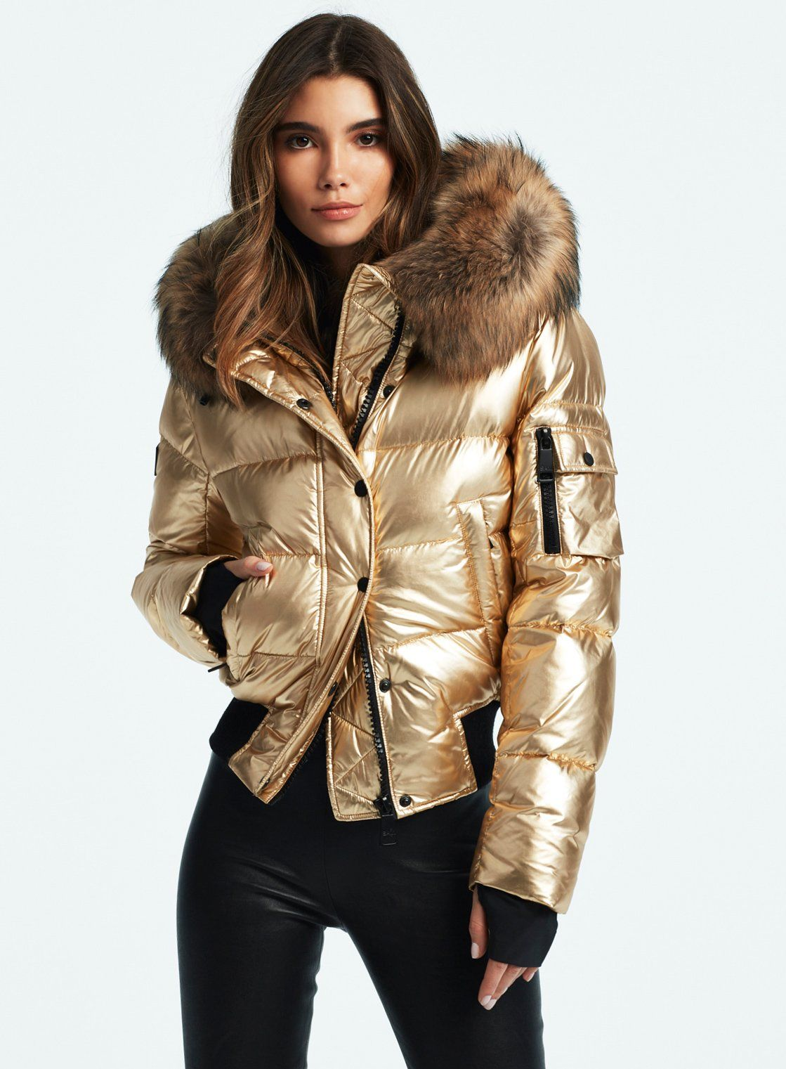 Skyler Gold Puffer Jacket Women Parka Outfit Winter Jackets Women [ 1521 x 1119 Pixel ]
