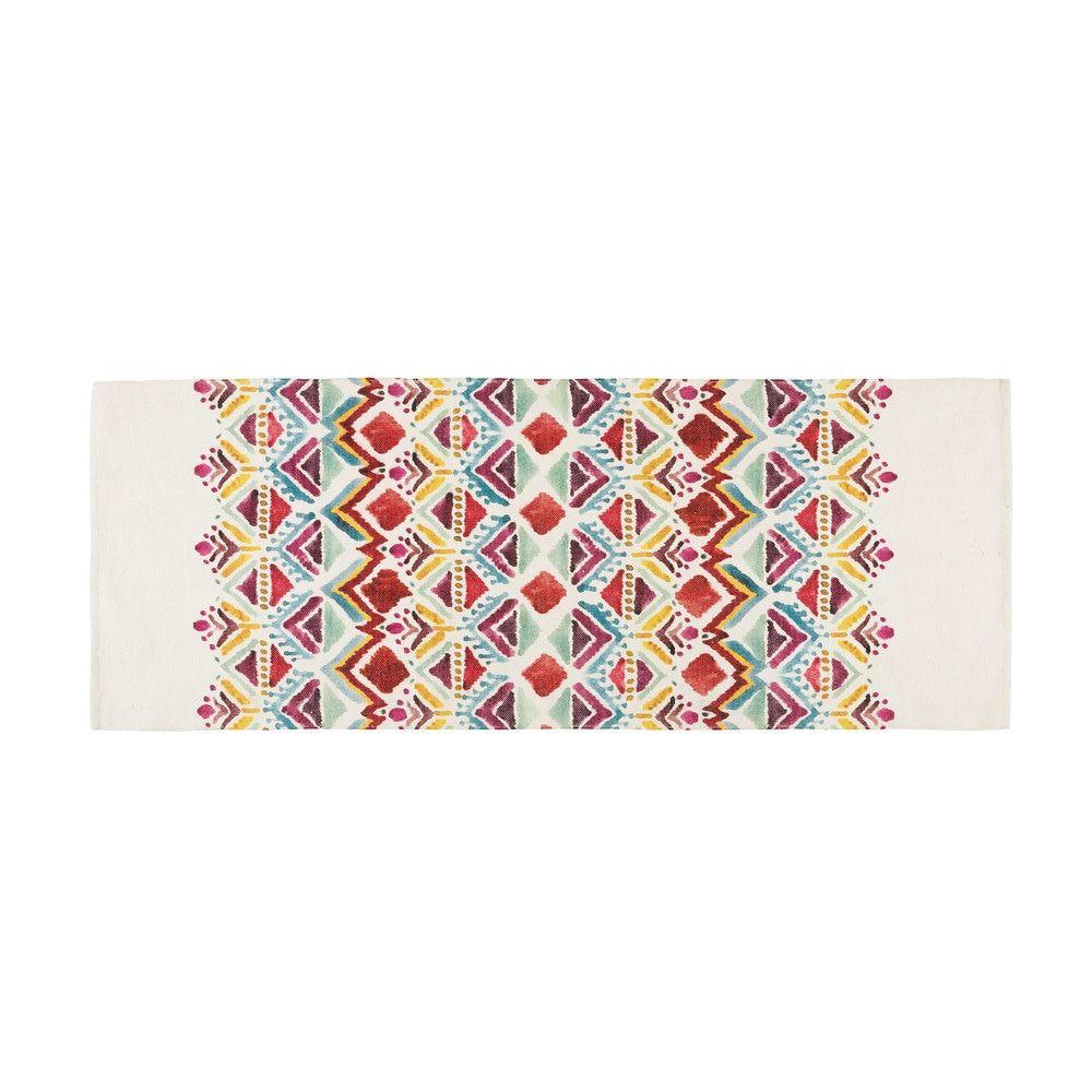 Alfombra Con Estampado Etnico Multicolor 80x200 Imprime Ethnique Tapis Tapis Ethnique