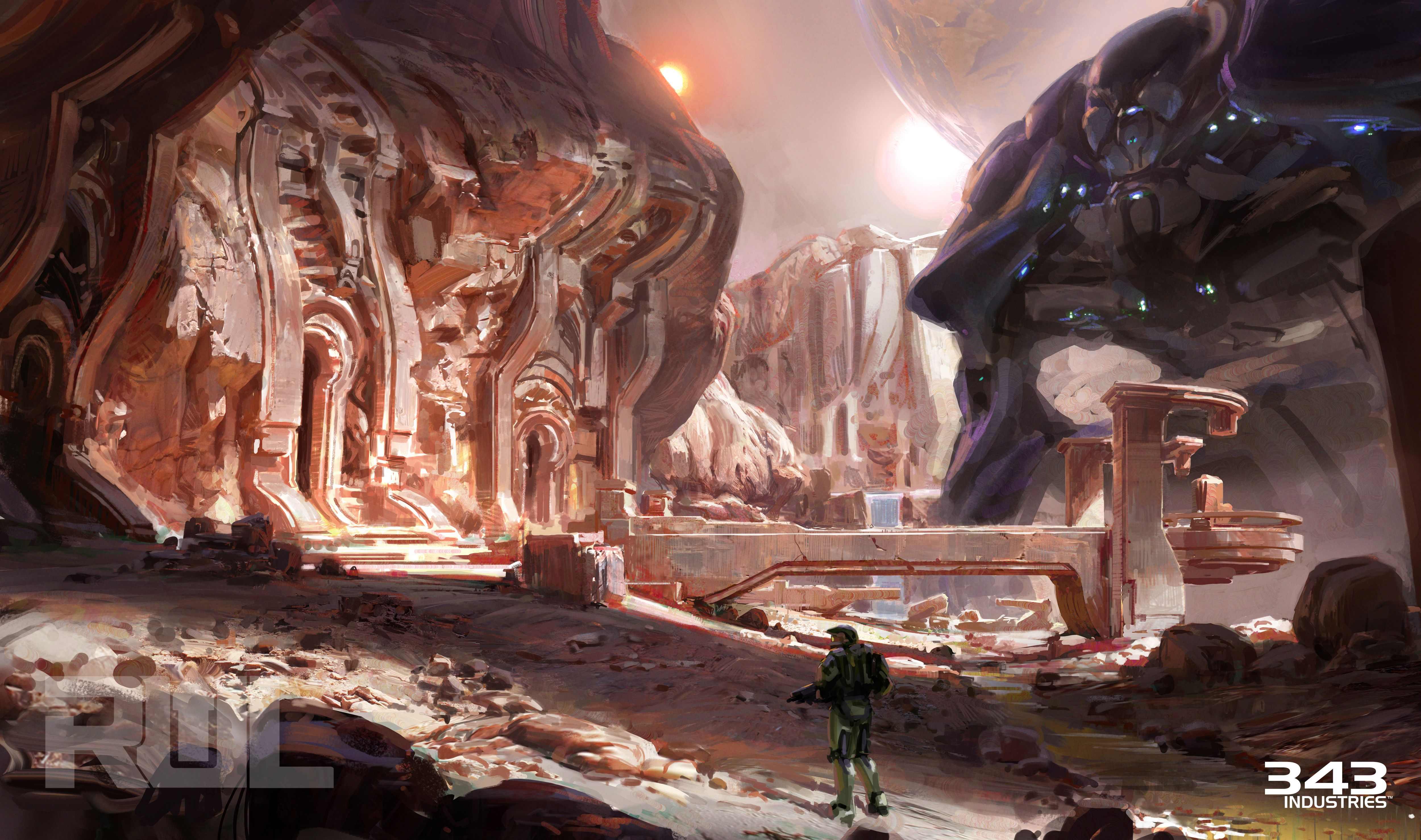 Pin by Wenjie Tee on Environment Ideas | Halo 5, Environment