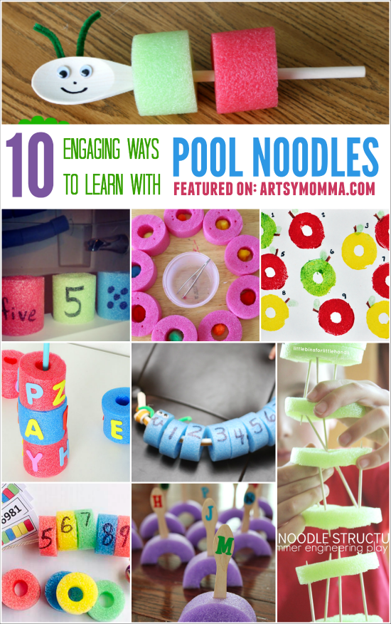 10 Engaging Ways To Learn With Pool Noodles Pool Noodle Crafts Preschool Activities Pool Noodles