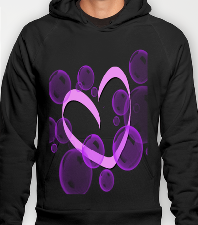 Bubble and Heart Hoody by LoRo  Art & Pictures - $38.00