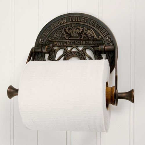 Photo of Crown Toilet Fixture Solid Brass Toilet Paper Holder