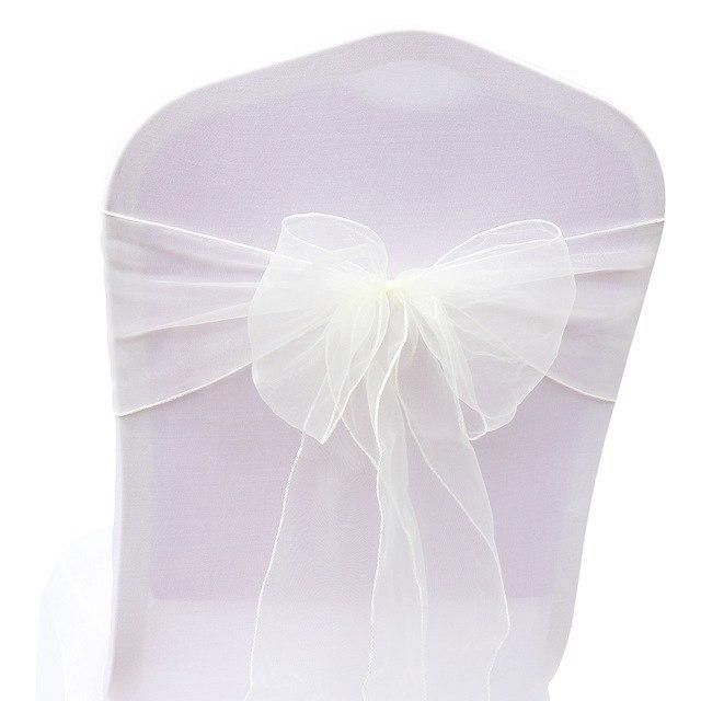 Chair Sashes Bow 25pc Colorful Organza Bows Tissue Tulle