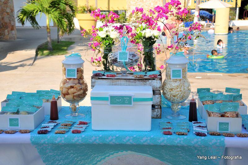 Candy bar. Mesa para dulces