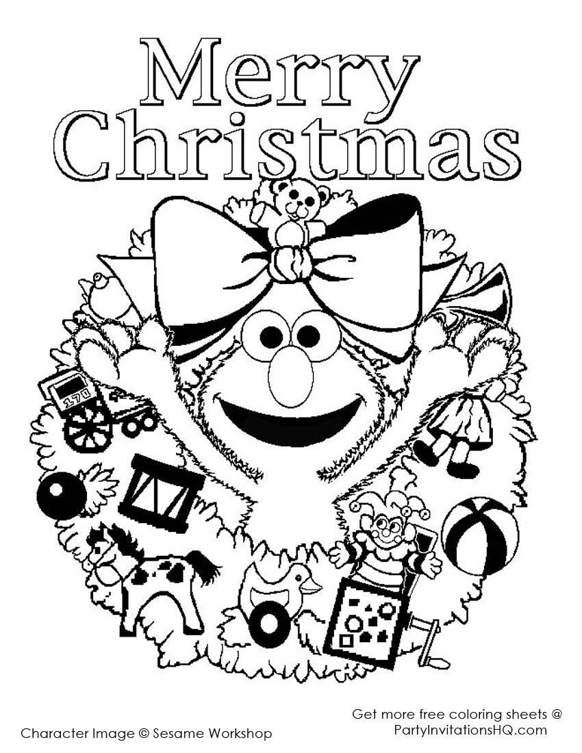 Sesame Street Christmas Coloring Pages | Coloring Pages | Pinterest