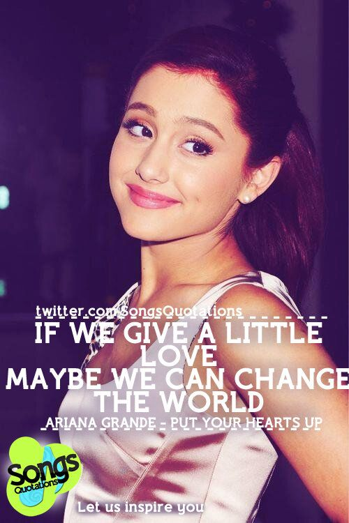 Put Your Hearts Up ~ Ariana Grande