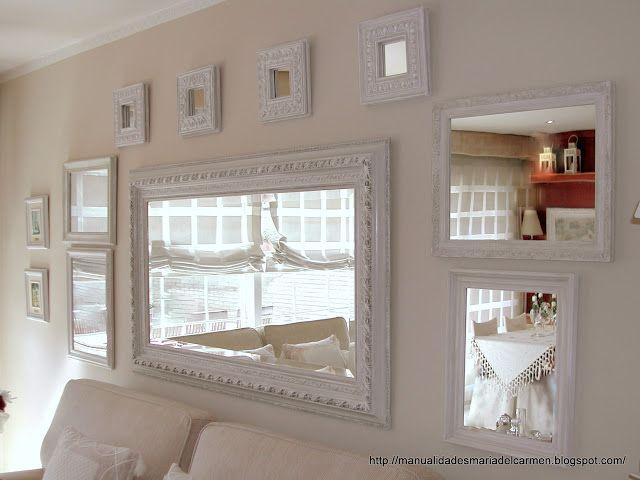 Manualidades la ventana de maria del carmen principal for Decorar paredes con cuadros y espejos