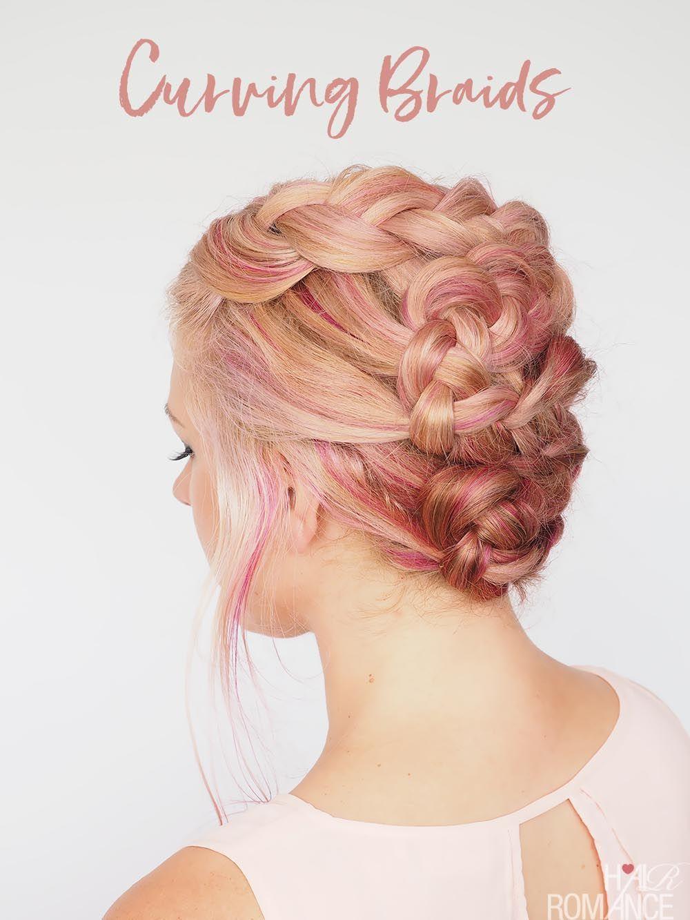 S curve braid tutorial a pretty braided upstyle hairstyles we
