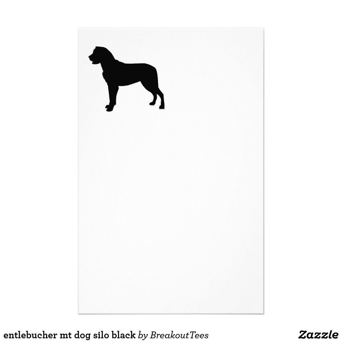 entlebucher mt dog silo black stationery | Zazzle.com ...