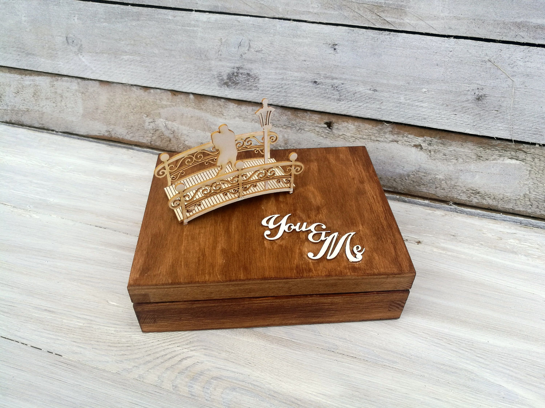 personalized wedding ring box bridal retro vintage wedding