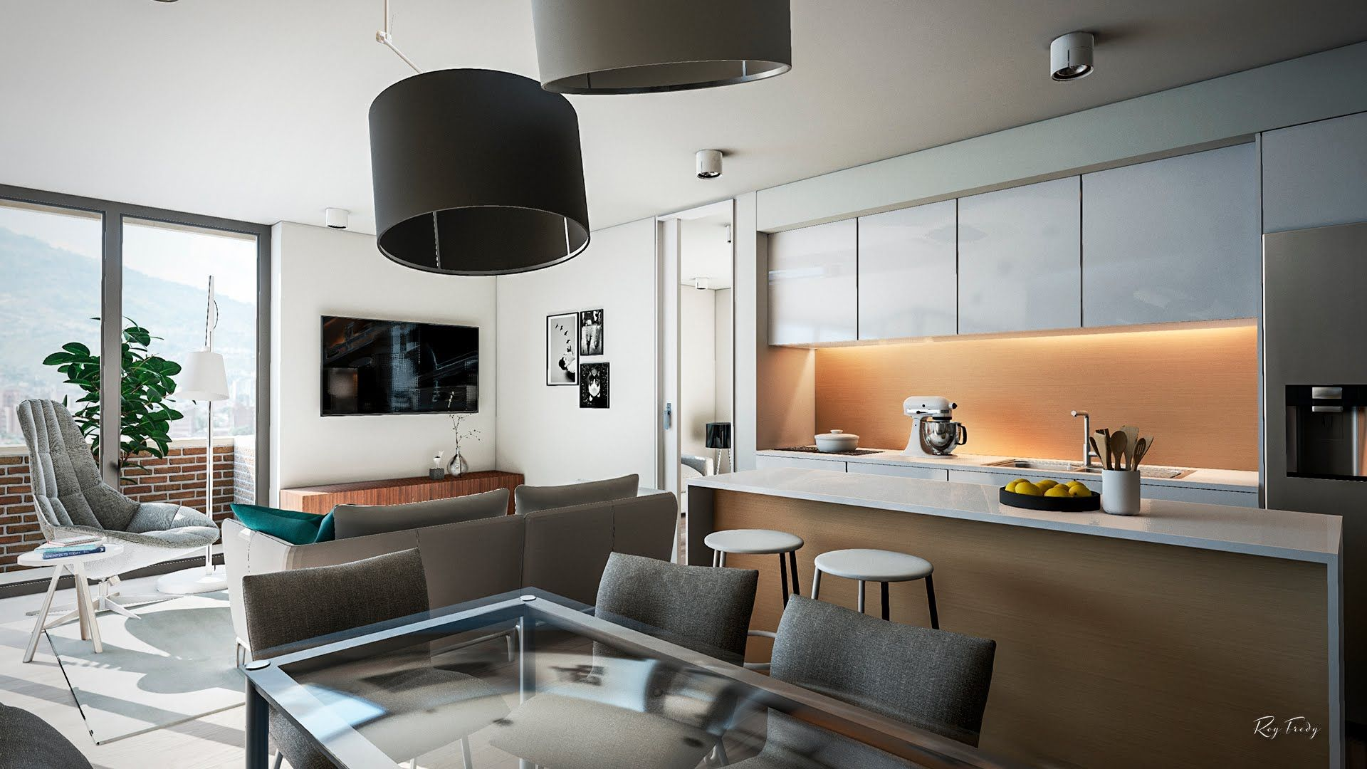 Unreal Engine 4 Apartment Interior Archviz Small Apartment Interior Apartment Interior Nyc Interior Design