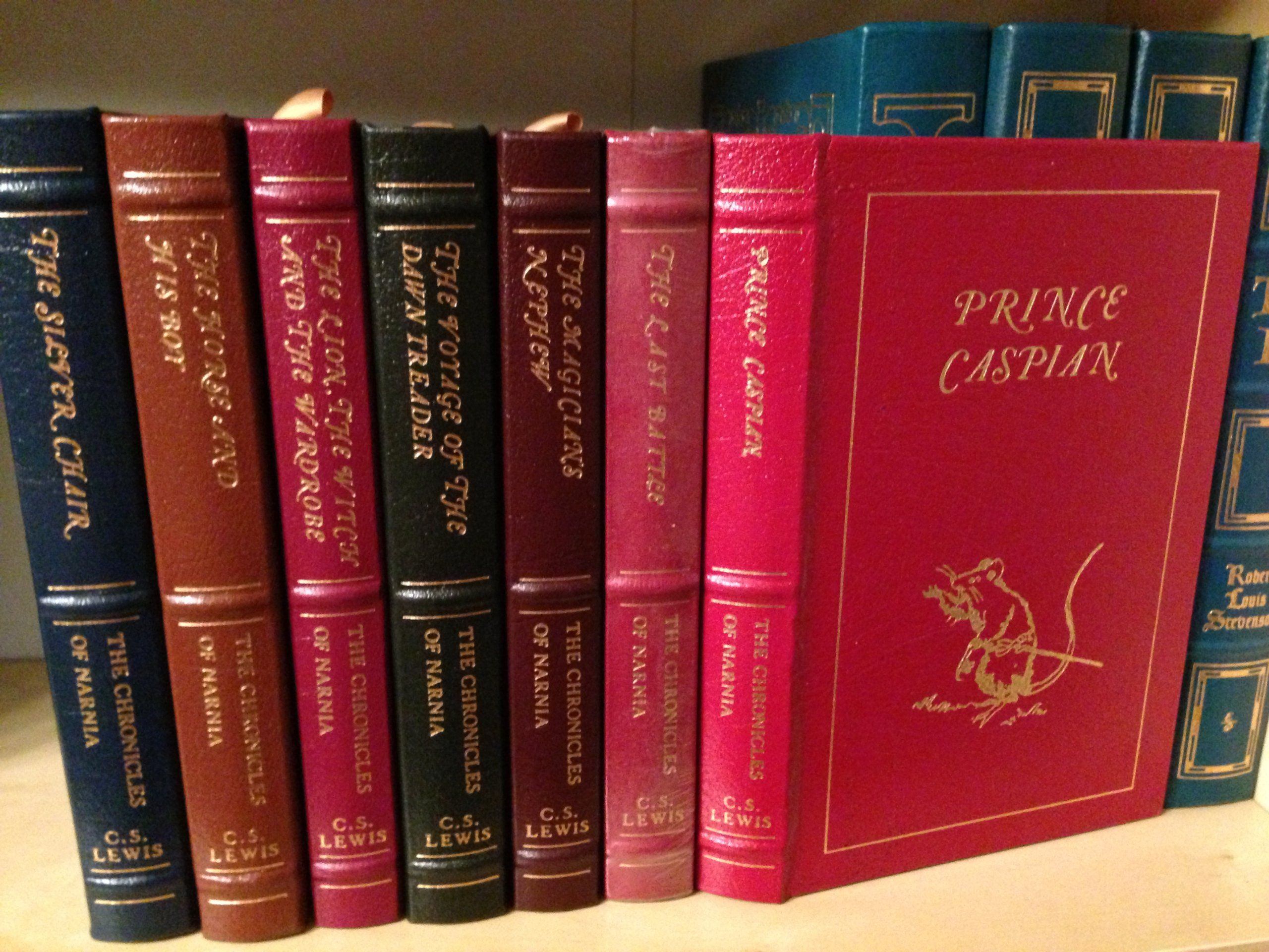 The Chronicles of Narnia Full Leather Easton Press plete in