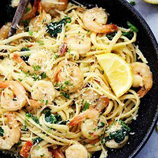 Lemon Garlic Parmesan Shrimp Pasta Recipe   Yummly