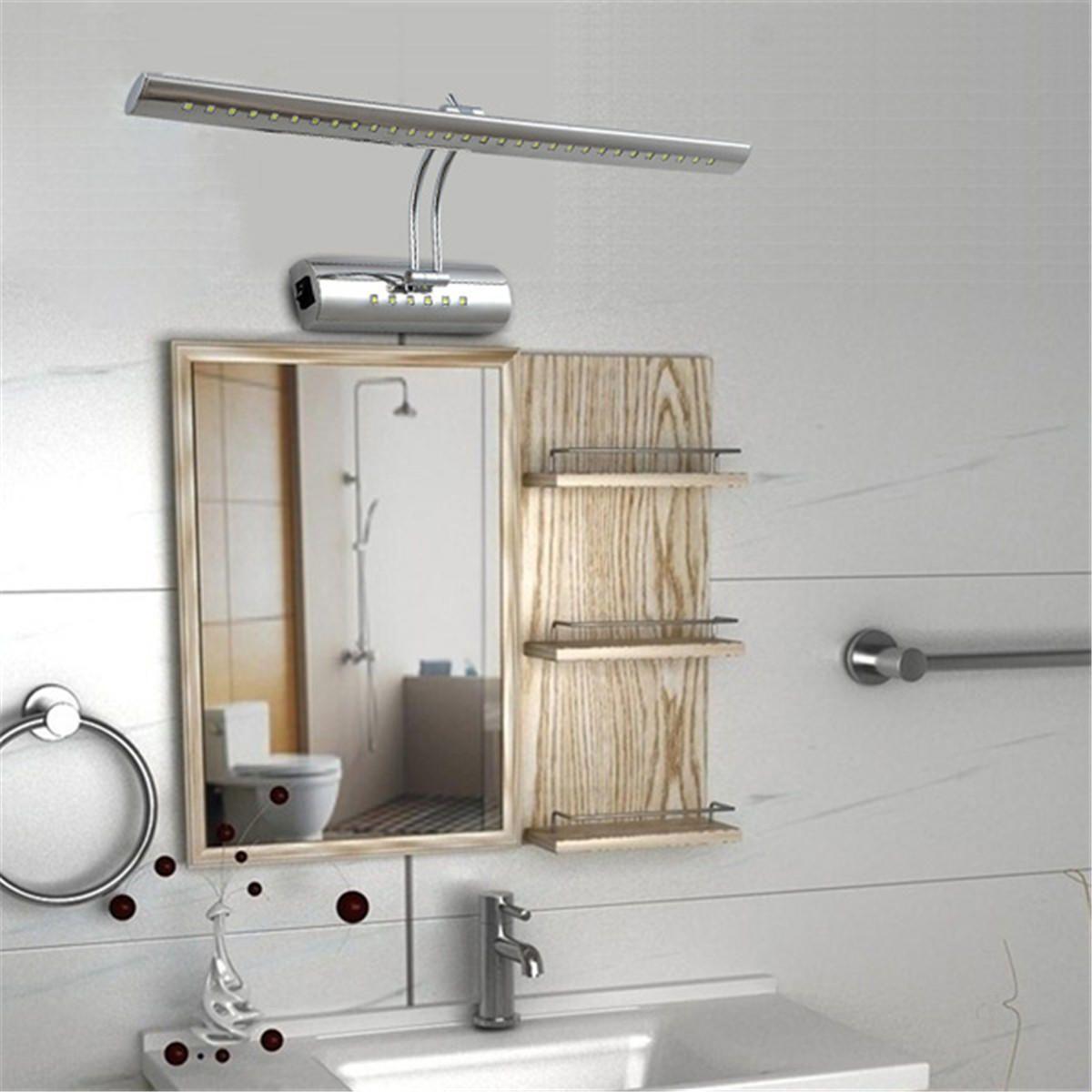 Crystal ledmirror light bubble crystal stainless steel bathroom mirror - 5w Stainless Steel Led Mirror Light Waterproof Home Bathroom Wall Lamp