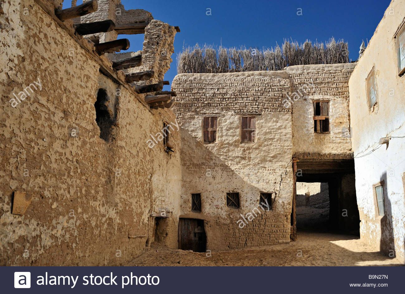 Old house in ancient part of El Qsar in western desert