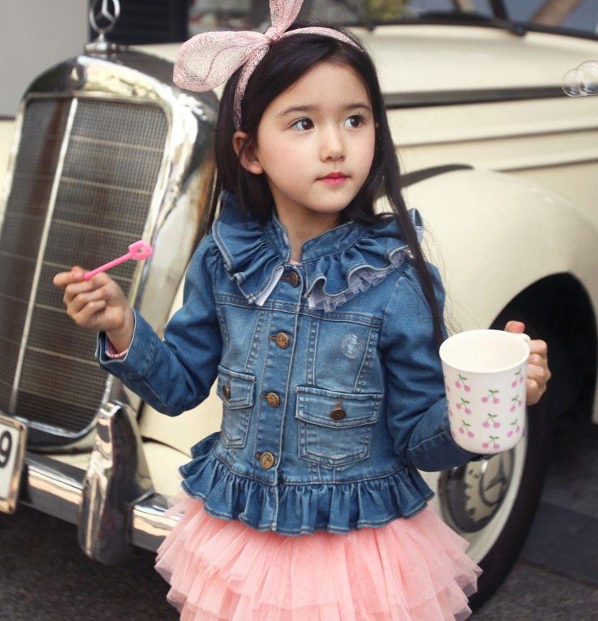 Джинсовое пальто для девочки (22 фото) | niñas | Pinterest | Coats