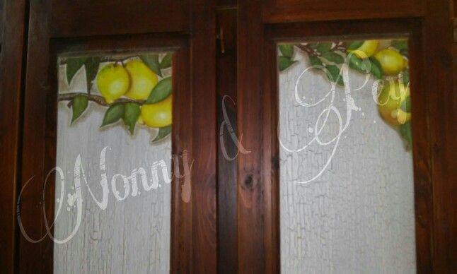 Puertas de mueble de cocina de pino. Lemon