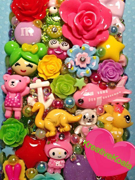 Rainbow Bright Retro Kawaii Decoden Case iPhone 5 by KreativeKoala