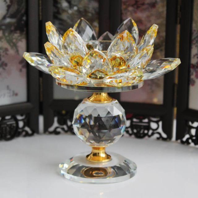 Feng Shui Lotus Flower Metal Candle Holders Big Tea Light Candle