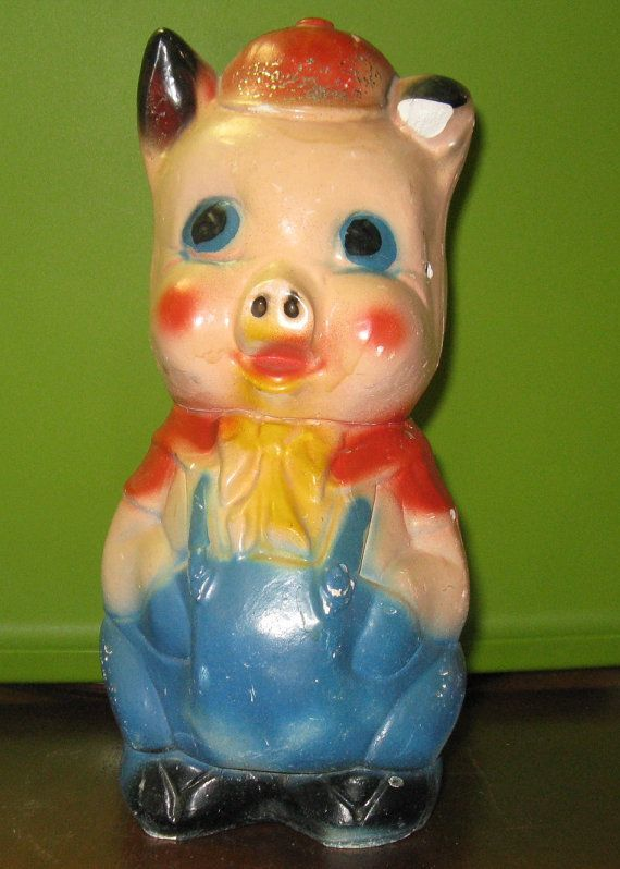 Chalkware Pig Piggie Bank