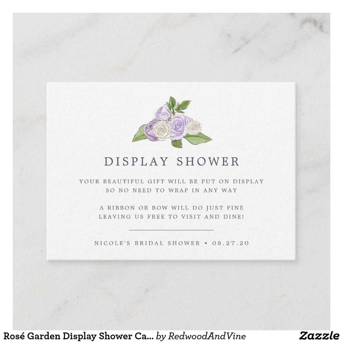 812598e9ef83 Rosé Garden Display Shower Card
