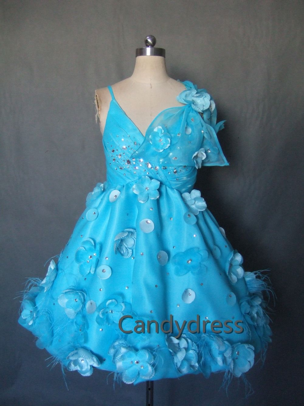 Find more evening dresses information about advanced custom aqua