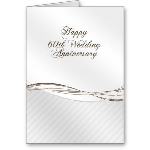 60th wedding anniversary greeting card  zazzle